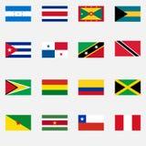 Vlaggen van de staten van Latijns Amerika Stock Afbeelding