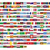 Vlaggen van de wereld Royalty-vrije Stock Foto