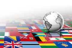 Vlaggen van de wereld stock illustratie