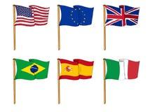 Vlaggen van de wereld Royalty-vrije Stock Afbeeldingen