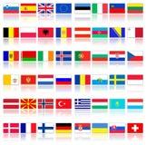 Vlaggen van Europese landen stock illustratie