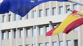 Vlaggen van Europese Unie stock videobeelden