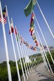 Vlaggen van het Park van Seoel de Olympische Royalty-vrije Stock Afbeeldingen
