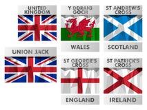Vlaggen van het Verenigd Koninkrijk Royalty-vrije Stock Afbeelding