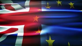 Vlaggen van het Verenigd Koninkrijk en de Europese Unie royalty-vrije stock foto