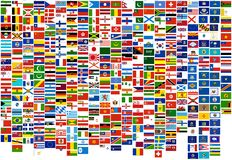 Vlaggen van het wereldland, staten en zee (oorlog, FI Stock Afbeelding