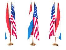 Vlaggen van Holland en de Verenigde Staat Royalty-vrije Stock Fotografie