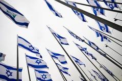 Vlaggen van Israël Stock Afbeeldingen