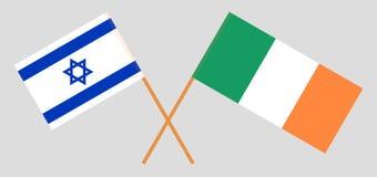 Vlaggen van Israël en Ierland stock illustratie