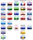 Vlaggen van landen in Oceanië Royalty-vrije Stock Foto's