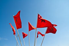 Vlaggen van Marokko Royalty-vrije Stock Foto