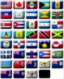 Vlaggen van Noord-Amerika Stock Foto