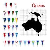 Vlaggen van Oceanië Royalty-vrije Stock Fotografie