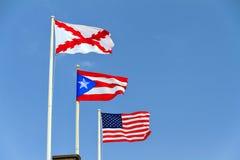 Vlaggen van Puerto Rico royalty-vrije stock foto's
