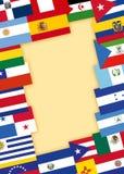 Spaanssprekende landenvlaggen Royalty-vrije Stock Foto