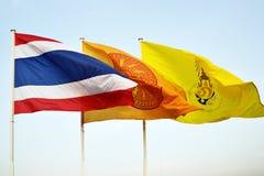 Vlaggen van Thailand stock foto's