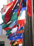 Vlaggen van vele kleuren Stock Foto's