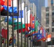 Vlaggen van vele kleuren Stock Fotografie