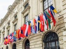 Vlaggen van verschillende landen royalty-vrije stock afbeeldingen