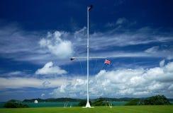 Vlaggen in Waitangi Stock Afbeeldingen