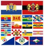Vlaggenprovincies van Nederland Stock Fotografie