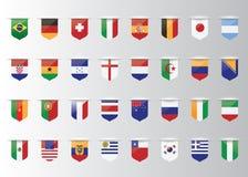 Vlaggenvector van de wereld Stock Afbeelding
