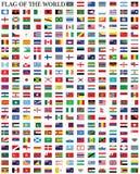 Vlaggenvector van de wereld Royalty-vrije Stock Foto
