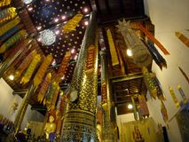 Vlaglanna in tempel royalty-vrije stock foto