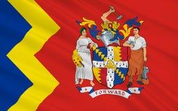 Vlagstad van Birmingham, Engeland vector illustratie