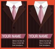Vlak adreskaartjemalplaatje met bruin jasje Stock Afbeeldingen