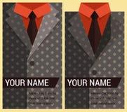 Vlak adreskaartjemalplaatje met grijs jasje Stock Afbeelding