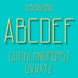 Vlak alfabet vector illustratie