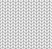 Vlak breiend naadloos patroon Stock Afbeeldingen