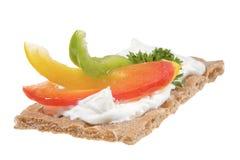 Vlak brood met kaas Royalty-vrije Stock Fotografie