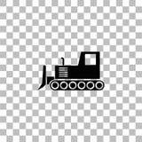 Vlak bulldozerpictogram stock illustratie