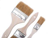 Vlak Chip Painting Brush dat op wit wordt ge?soleerd stock foto's