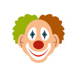 Vlak clownpictogram stock illustratie