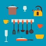 Vlak concept voor het koken Stock Fotografie