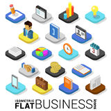 Vlak 3d isometrisch vector mobiel app van het bedrijfsfinanciëngeld pictogram Stock Fotografie