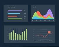 Vlak dashboard, reeks infographic elementen van het uiweb royalty-vrije illustratie