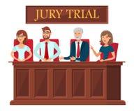 Vlak de Bannermalplaatje van jury Proefvertegenwoordigers stock illustratie