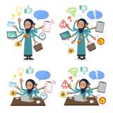 Vlak de taakbureau van type Arabisch oud women_mulch vector illustratie