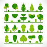 Vlak de textuurgras van de bomen groot reeks royalty-vrije illustratie