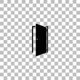 Vlak deurpictogram royalty-vrije illustratie