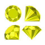 Vlak diamantpictogram Stock Afbeelding