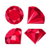 Vlak diamantpictogram Stock Foto's