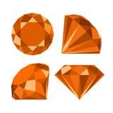 Vlak diamantpictogram Royalty-vrije Stock Afbeelding