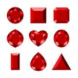 Vlak diamantpictogram Royalty-vrije Stock Fotografie