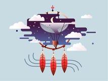 Vlak droom abstract ontwerp Stock Foto