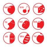 Vlak eenvoudig pictogram Stock Afbeeldingen